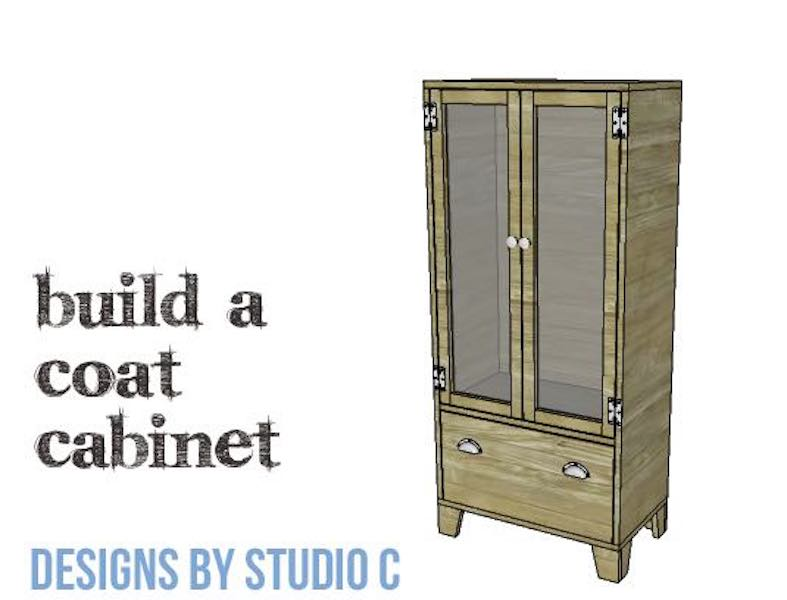 Free plans to build a Coat Cabinet.