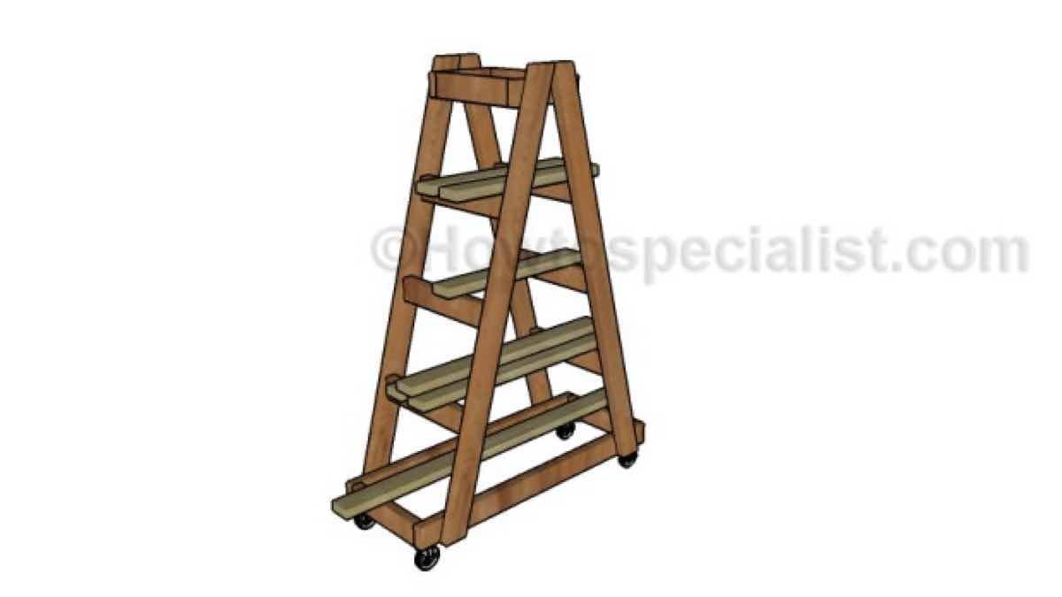 lumber racks,lumber storage racks,mobile,diy,free woodworking plans,workshop projects,do it yourself