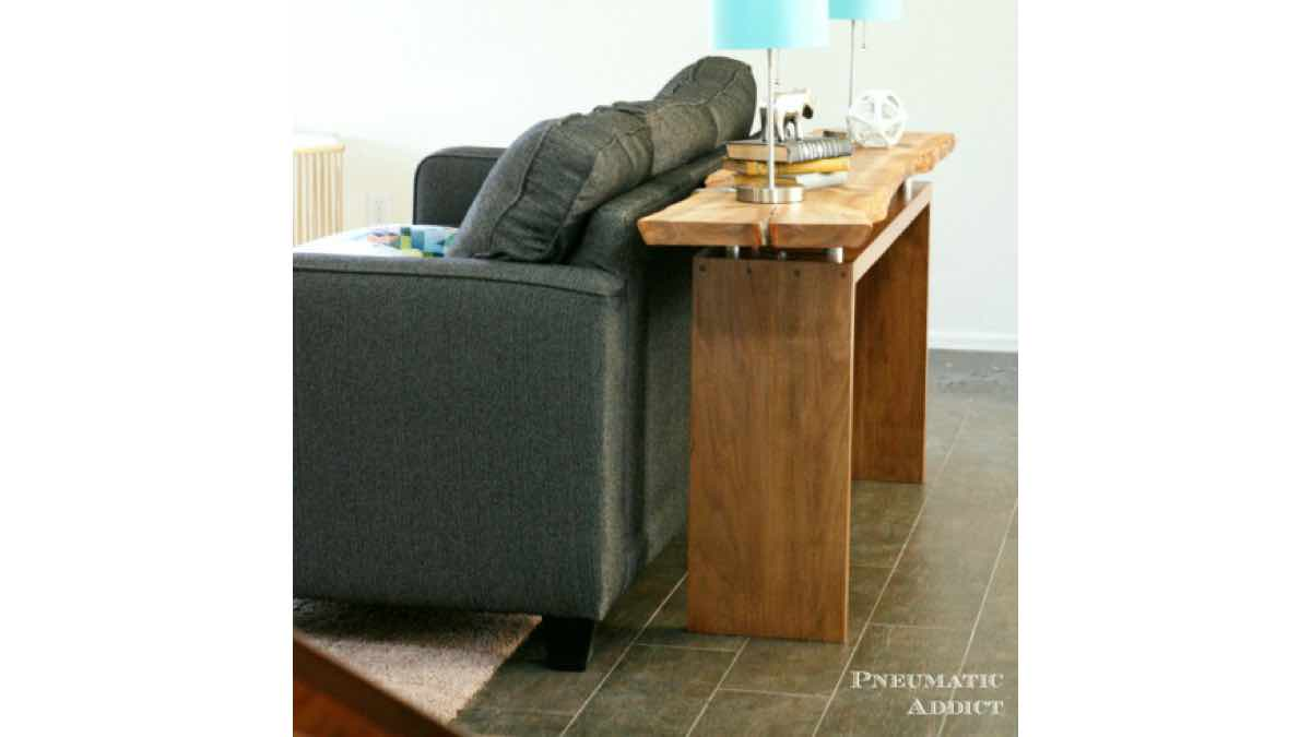 console tables,floating tops,furniture,diy,free woodworking plans,free projects,do it yourself