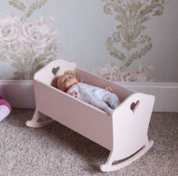 Build a Doll Cradle using free plans.