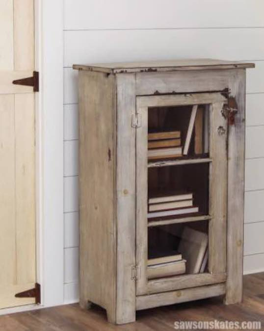 Free plans to build a Cabinet with Glass Door.