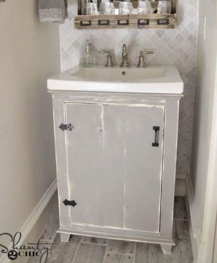 Build a compact Bathroom Vanity.