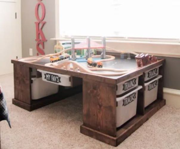 Build a Lego or Train Table using free plans.