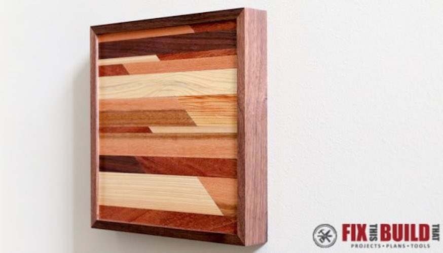 Build Art from Scrap Wood using free plans.