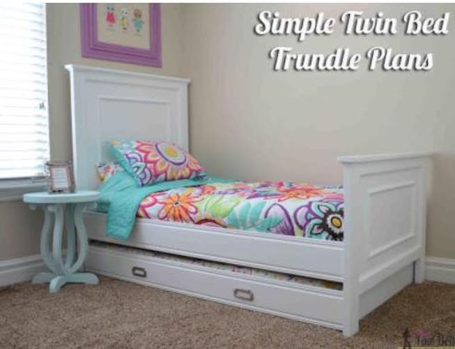 Build a Simple Twin Bed Trundle using free plans.