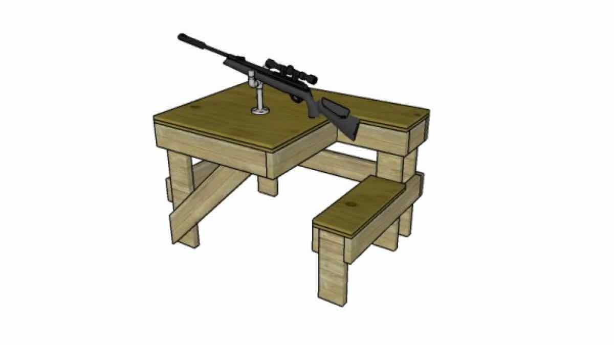 hunting tables,shooting tables,diy,free woodworking plans,free projects,do it yourself