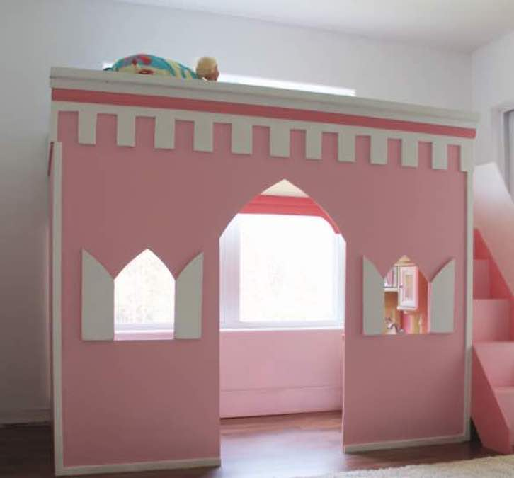 Free plans to build a Princess Loft Bed.
