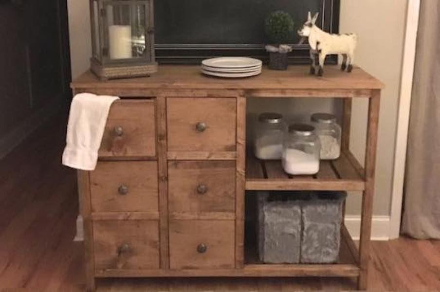Free plans to build a handsome Buffet.