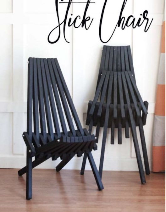 Free plans to build a Folding Stick Chair.