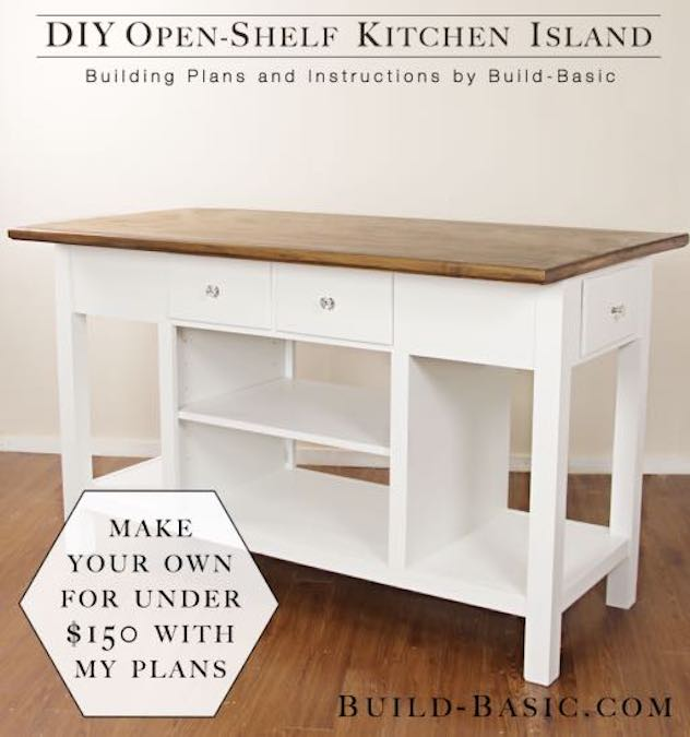 Free plans to build a kitchen island.