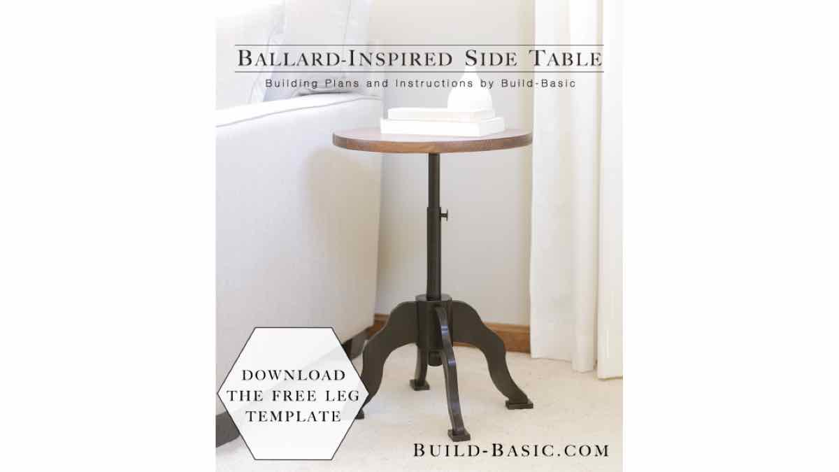 Free Plans for a Round Top Side Table.