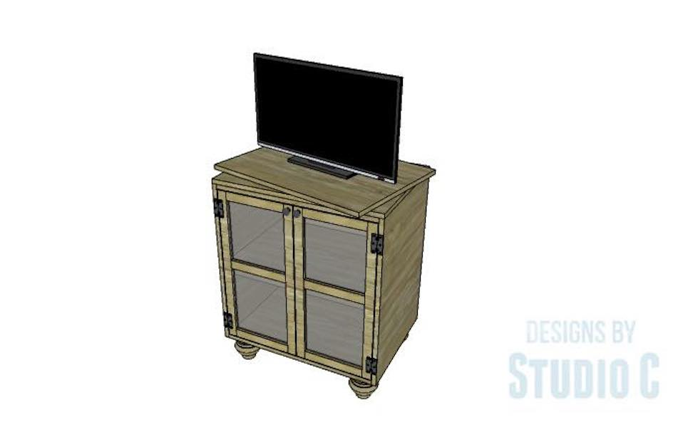 Build a Swivel Top Media Stand using free plans.