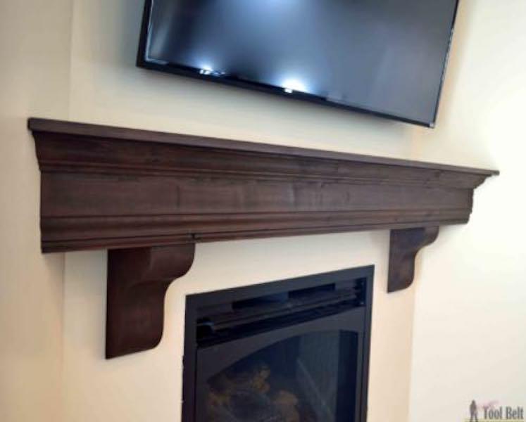 Free plans to build a Fireplace Mantel Shelf.