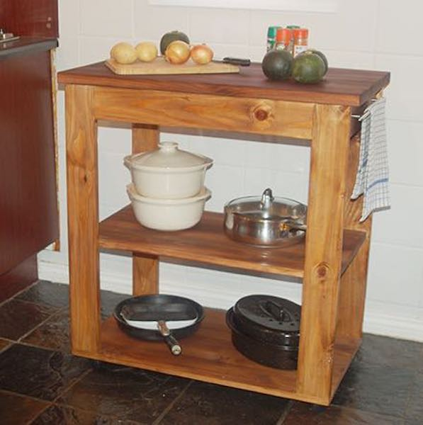 Free plans to build a Small Kitchen Island.