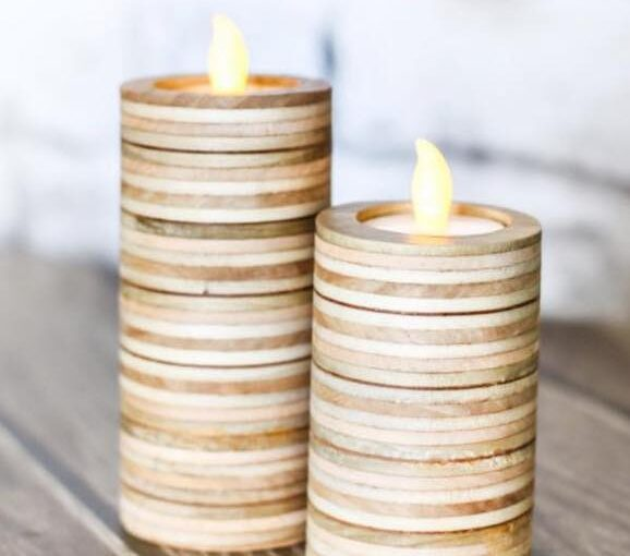 Candle Holders from Plywood