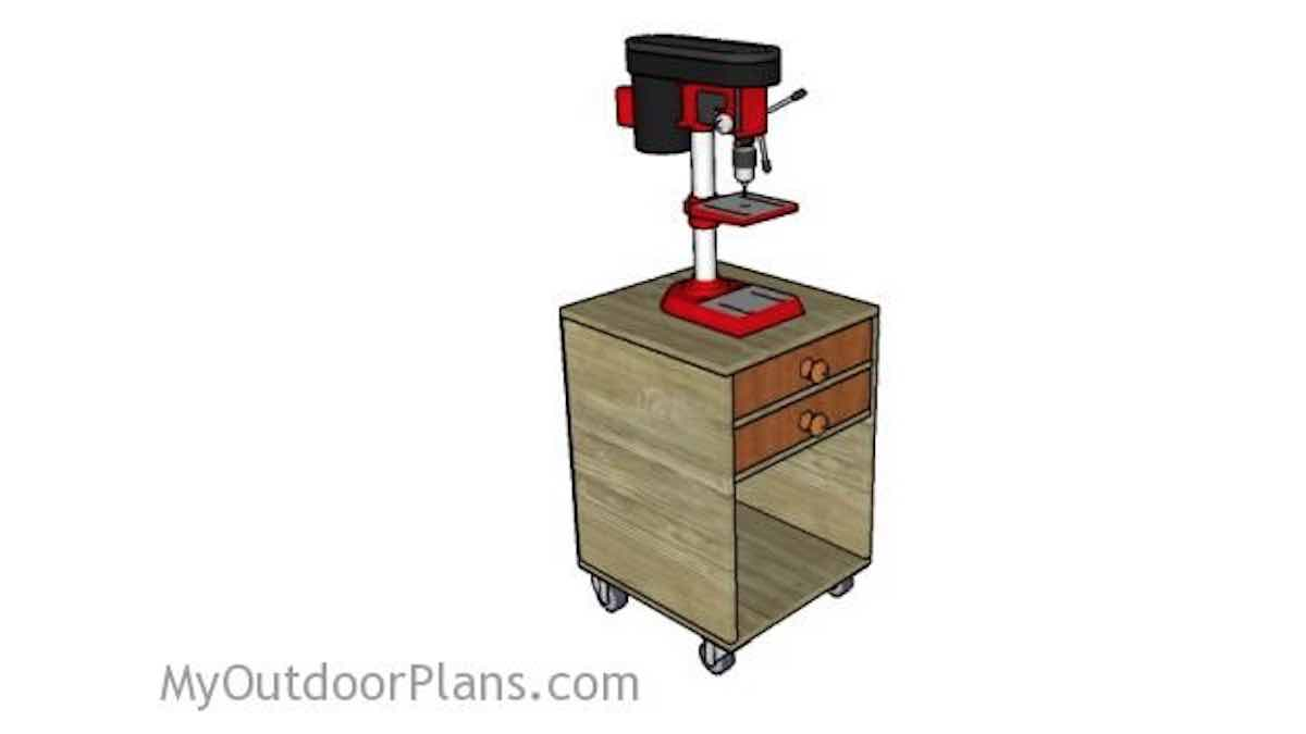 drill press stands,workshops,mobile,diy,free woodworking plans,free projects,do it yourself