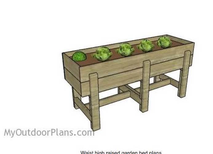 Build a Waist High Raised Garden Bed.