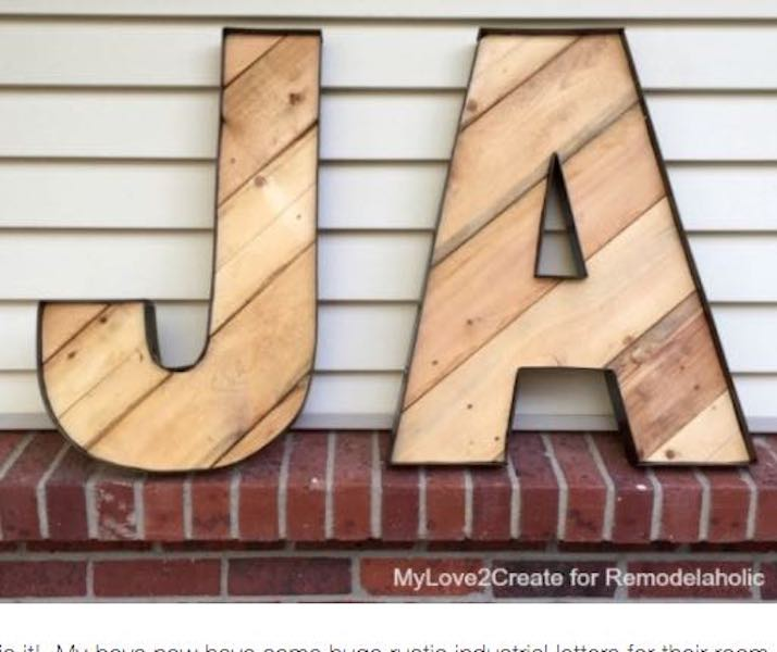 Free plans to build Industrial Letters.