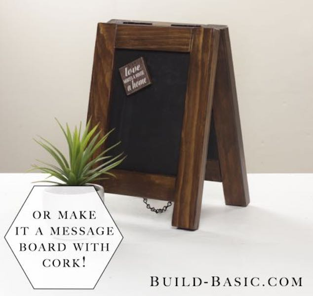 Build a Tabletop Easel using free plans.