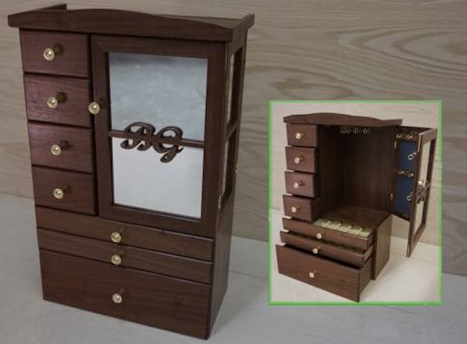 Build a Traditional Jewelry Box using free plans.