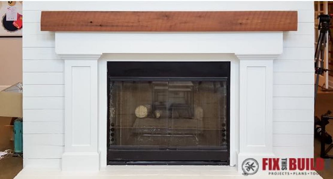 Build a Fireplace Surround and Mantel using free plans.