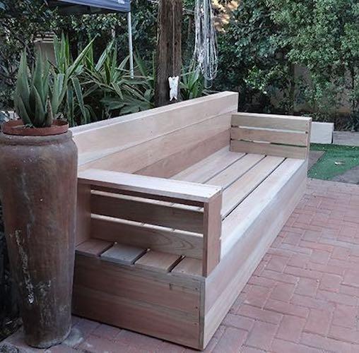 Build an Outdoor Cedar Sofa using free plans.