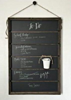 Free plans to build a Chalkboard Organizer.