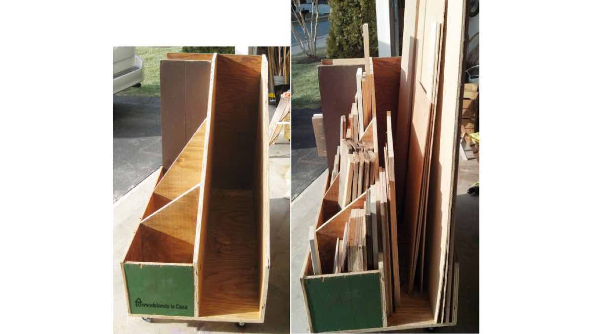 lumber racks,lumber carts,mobile,workshop storage,diy,free woodworking plans,free projects,do it yourself