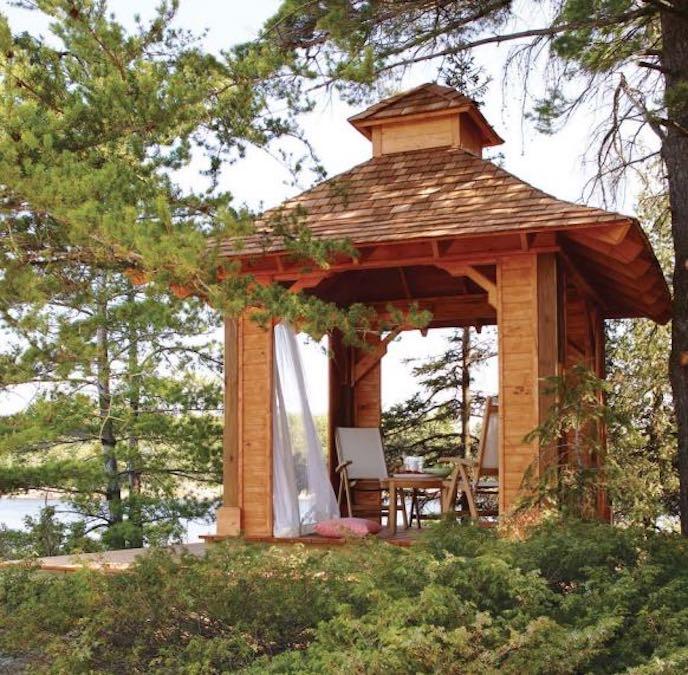 Build a Backyard Gazebo using free plans.