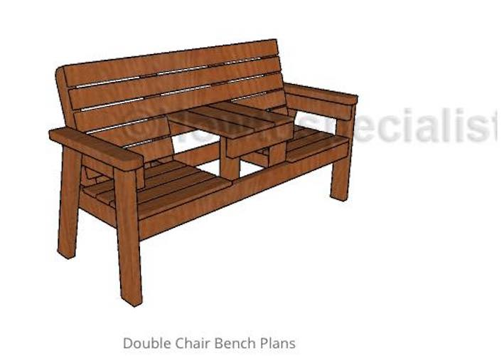 Free plans to build a Double Patio Chair.
