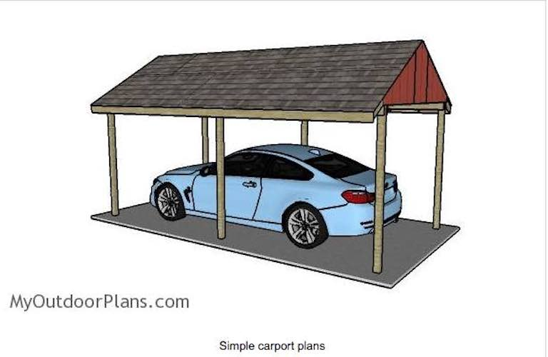 Build a Single Carport using free plans.
