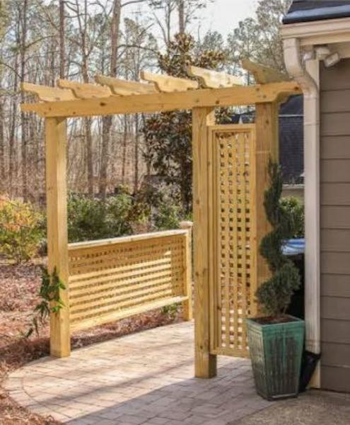 Build a Pergola with Trellis using free plans.