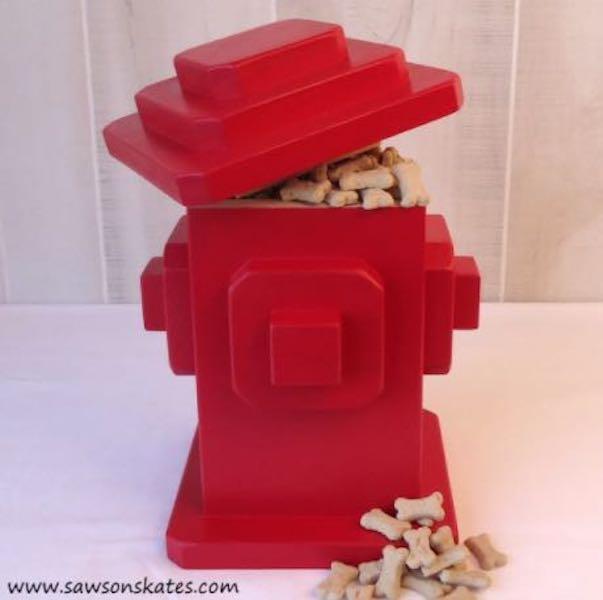 Build a fun Dog Treats Fire Hydrant.