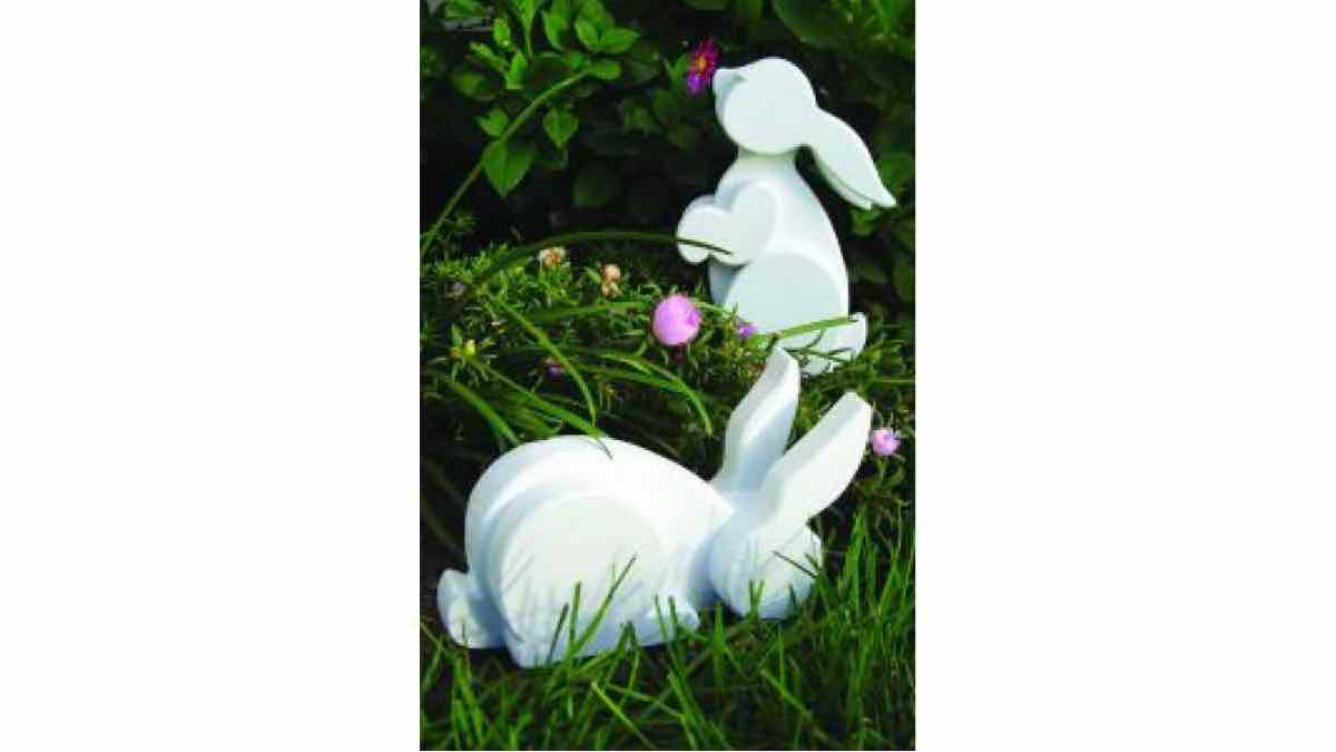layered rabbits,garden bunnies,scroll saws,diy,free woodworking plans,free projects,do it yourself