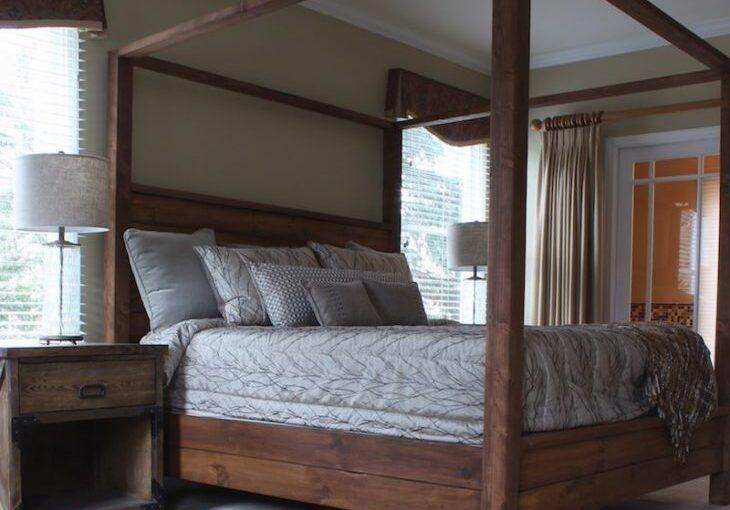 Free plans to build a Canopy Bed King Size.