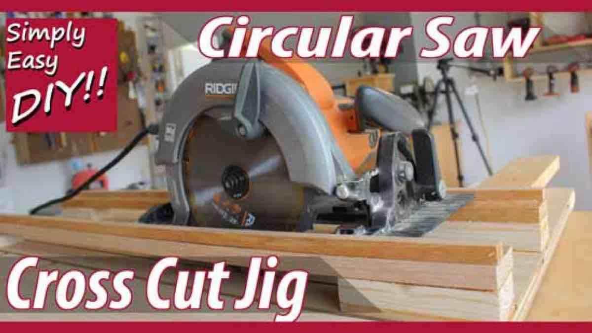 how to build a Circular Saw Cross Cut Jig