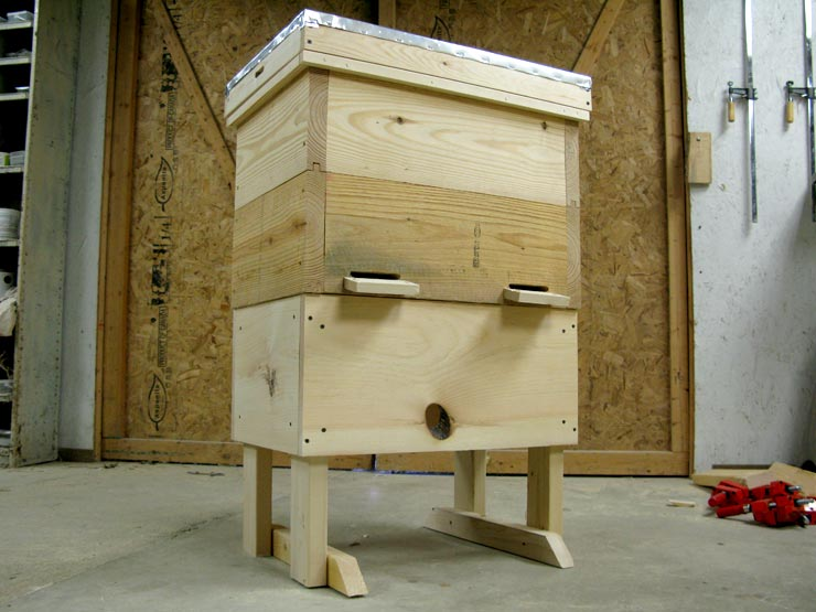 Build a Layens Beehive Stand.