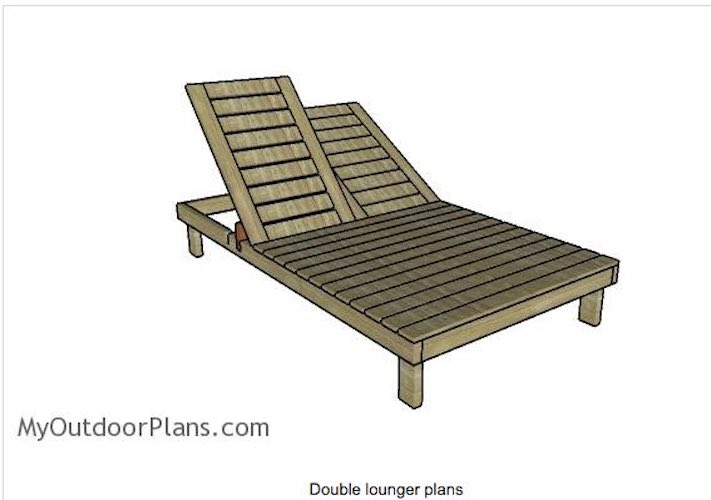 Free plans to build a Double Chaise Lounge.