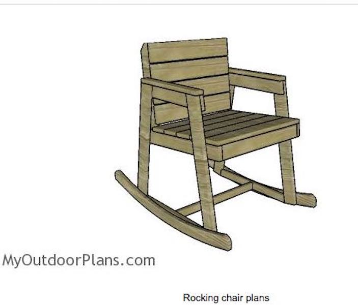 Build an Outdoor Rocking Chair using free plans.