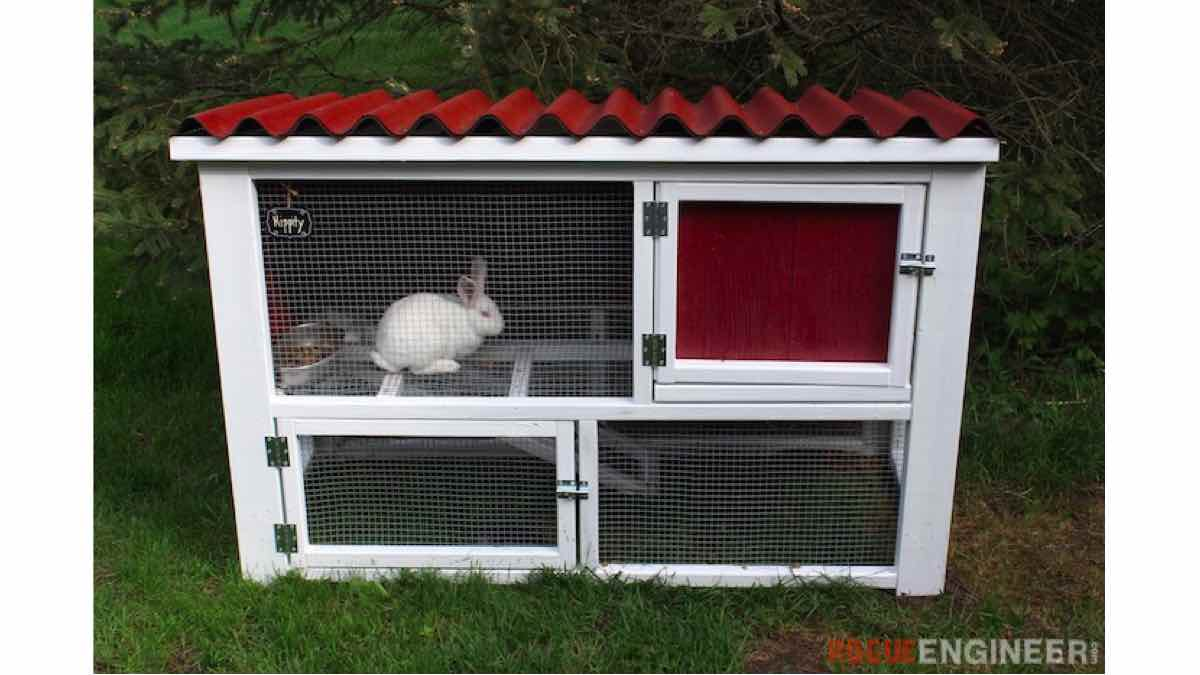 rabbit hutches,diy,free woodworking plans,free projects,do it yourself,rabbits