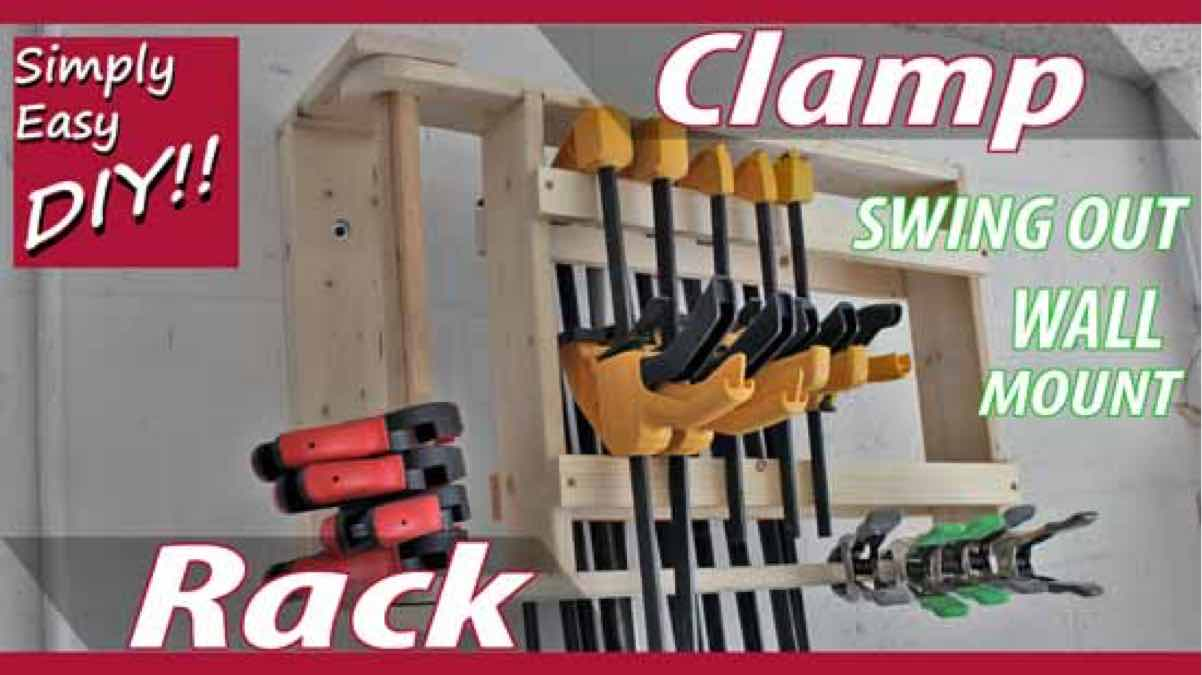 clamp racks,wall mounted,workshops,storage,diy,free woodworking plans,free projects,do it yourself