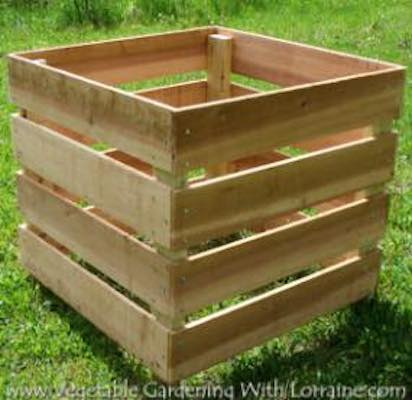 Free plans to build a Homemade Compost Bin.