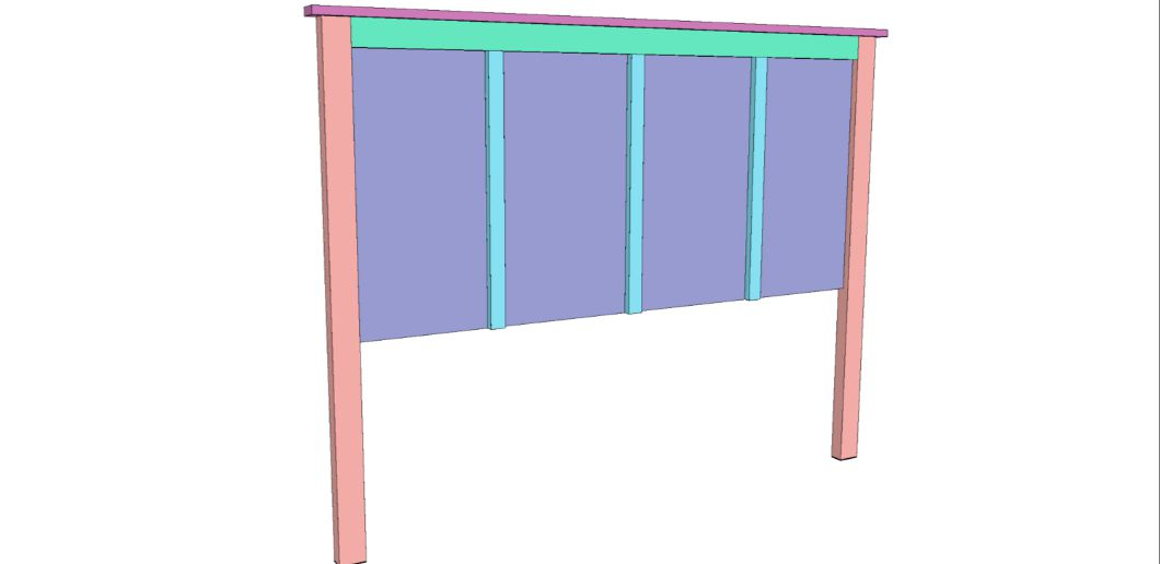 How to build a Queen Size Headboard free project.