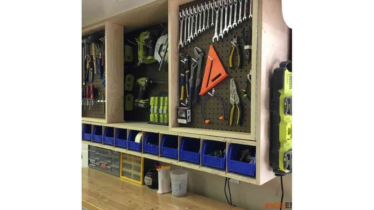 Ryobi Wall Mounted Tool Cabinet Free Woodworking PDF Plan.