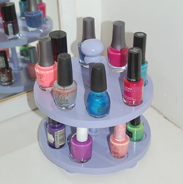 Free plans to build a Nail Polish Carousel.