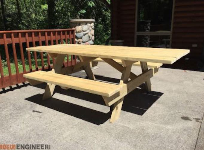 Build a Wheelchair Accessible Picnic Table using free plans.
