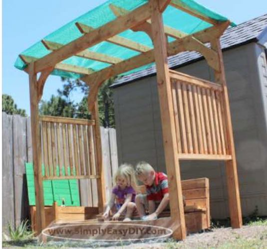 Build a Shade Arbor using free plans.