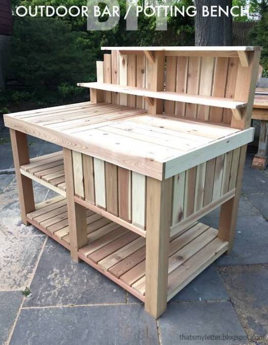 Build this Potting Bench by Jamie using free plans.