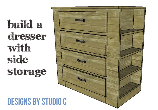 How to build a Dresser with Side Storage