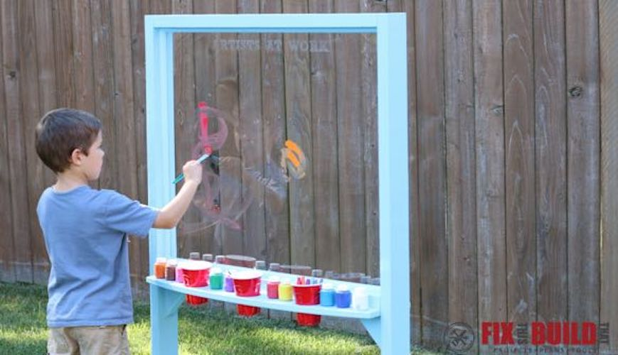 Build an Acrylic Painting Easel.